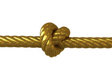 Gold knot. On a white background Royalty Free Stock Image