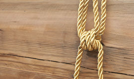Gold knot Stock Photography