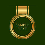 Gold label Stock Images
