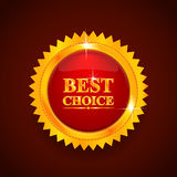 Gold label. Best choice Royalty Free Stock Image