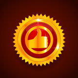Gold label. Best choice Royalty Free Stock Photo