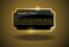 Gold Label with sample text Stock Images