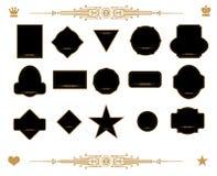 Gold label set Royalty Free Stock Photo