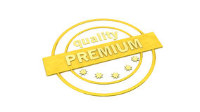 Gold label stamp premium Stock Photo