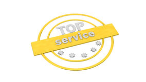 Gold label stamp service Royalty Free Stock Image