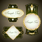 Gold labels Stock Images