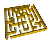 Gold labyrinth Royalty Free Stock Photo