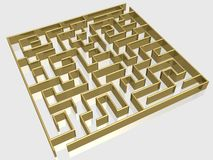 The gold labyrinth Stock Images