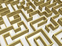 The gold labyrinth Stock Image