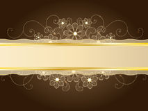 Gold lace Royalty Free Stock Photos