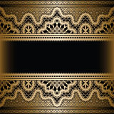 Gold lace background Royalty Free Stock Photos