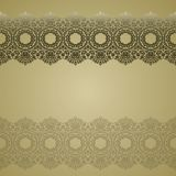 Gold lace borders, ornamental paper lines, vector. signboard nam royalty free illustration