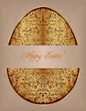 Gold lace egg. Royalty Free Stock Photo