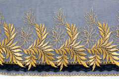 Gold Lace Fabric Stock Image