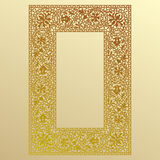 Gold Lace Frame. Stock Image