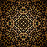 Gold lace pattern Royalty Free Stock Photography