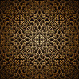Gold lace pattern Royalty Free Stock Images