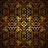 Gold lace pattern Royalty Free Stock Image