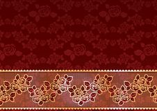 Gold Lace Roses royalty free illustration