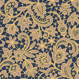 Gold Lace Seamless Pattern. Royalty Free Stock Photos