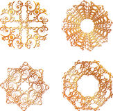 Gold lace symbols Royalty Free Stock Photos
