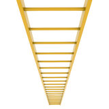 Gold ladder. Isolated render on white background Royalty Free Stock Photo
