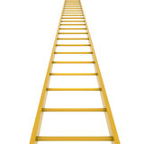 Gold ladder. Isolated render on white background Royalty Free Stock Image