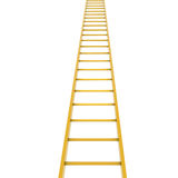 Gold ladder. Isolated render on white background Stock Images