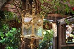 GOLD LANTERN LIGHT Royalty Free Stock Photography