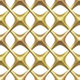 Gold Lattice on White Royalty Free Stock Photo