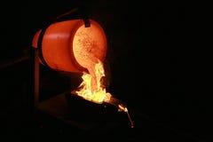 Gold laufen aus Lizenzfreie Stockbilder