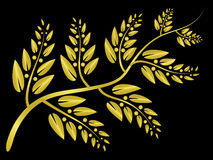 Gold laurel Royalty Free Stock Images