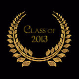 Gold laurel for Graduation 2013 Royalty Free Stock Images
