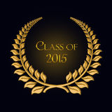 Gold laurel for 2015 graduation Stock Images