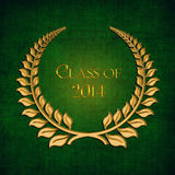 Gold Laurel for 2014 Graduation. Gold laurel on textured green background for class of 2014 Royalty Free Stock Photo