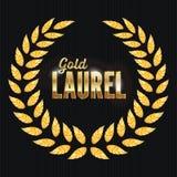 Gold Laurel Vector. Shine Wreath Award Design Royalty Free Stock Image