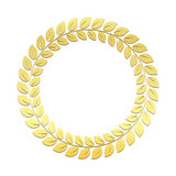 Gold Laurel vector wreath. Award for winners. Honoring champions Trophy for challenge Symbol of victory and achievements. Gold Laurel Wreath. Award for winners Royalty Free Stock Images
