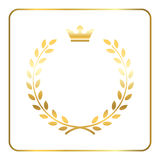 Gold laurel wheat wreath icon Royalty Free Stock Photo