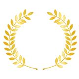 Gold laurel wreath stock illustration
