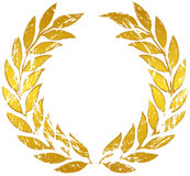 Gold laurel wreath. Laurel wreath on a white background stock illustration