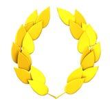 Gold laurel wreath 3d. Abstract gold laurel wreath 3d stock illustration