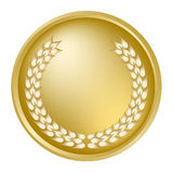Gold laurel wreath Stock Photos