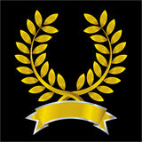 Gold laurel wreath Stock Photography