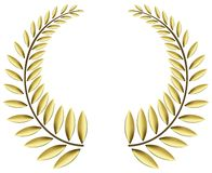 Gold laurel wreath Royalty Free Stock Images