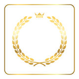 Gold laurel wreath crown golden Stock Photography