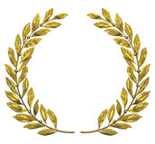 Gold laurel wreath Stock Image