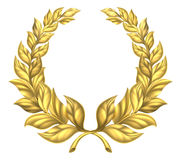Gold Laurel Wreath Royalty Free Stock Image
