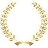 Gold laurel wreath Stock Images