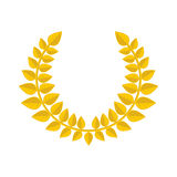 Gold laurel wreath icon. Royalty Free Stock Images