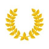 Gold laurel wreath icon. Stock Images